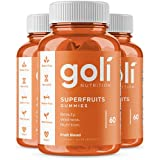 SUPERFRUITS Vitamin Gummy by Goli Nutrition - 3 Pack 180 count - with collagen-enhancing ingredients. Radiate. Rejuvenate. Re