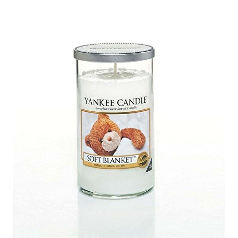 外部ごみコミットメントヤンキーキャンドルメディアピラーキャンドル - ソフト毛布 - Yankee Candles Medium Pillar Candle - Soft Blanket (Yankee Candles) [並行輸入品]