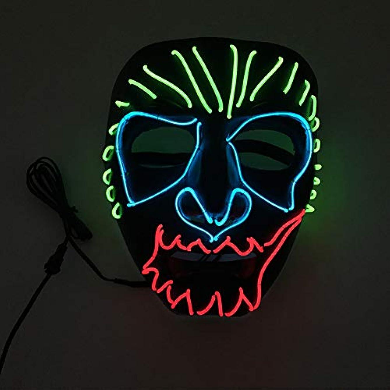 参加する天国ブルハロウィン イーグルキング クール テロ LED マスク コスプレ 化粧 プロム パーティー イルミネーション マスク (18×18Cm) MAG.AL