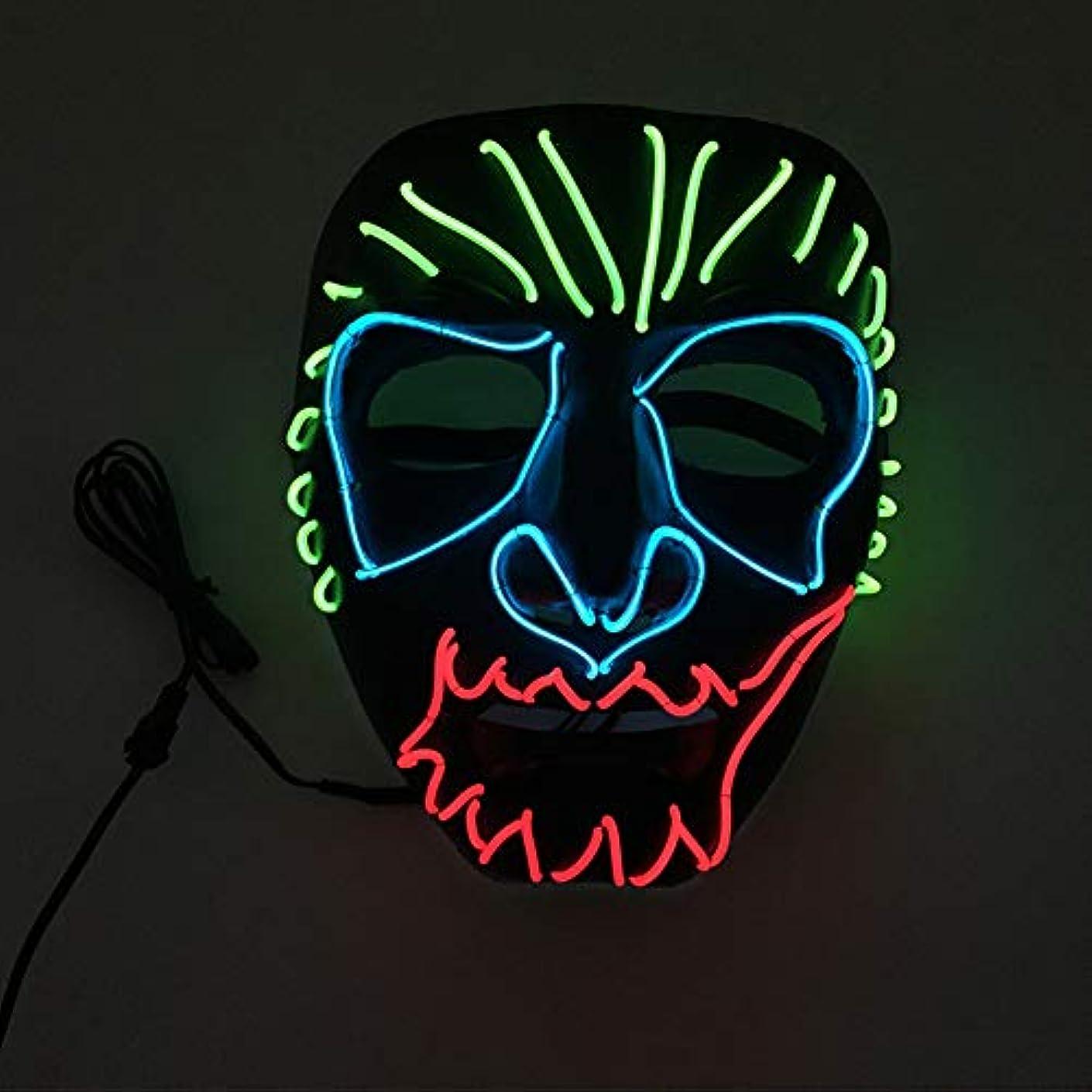 衝突アクロバット気怠いハロウィン イーグルキング クール テロ LED マスク コスプレ 化粧 プロム パーティー イルミネーション マスク (18×18Cm) MAG.AL