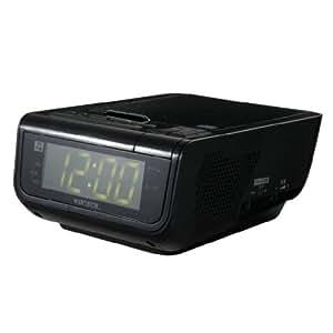 WINTECH CDクロックラジオ CDC-210 K ブラック USB充電機能付 CDC-210K