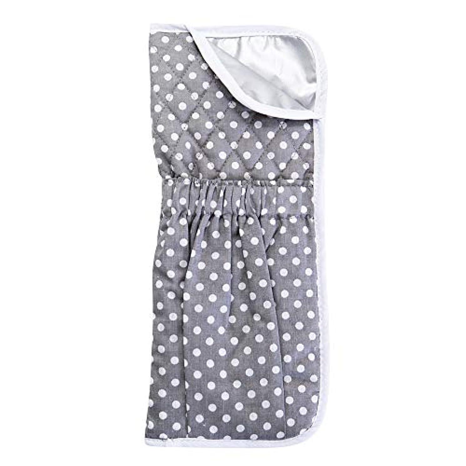 影のあるトリム石鹸Smartfeel ヘアアイロン ポーチ 収納 カバー 専用耐熱ポーチ コテ ポーチ 全集類ヘアアイロン収納可能 コード収納 かわいい 旅行バッグに収納可能 (グレー)