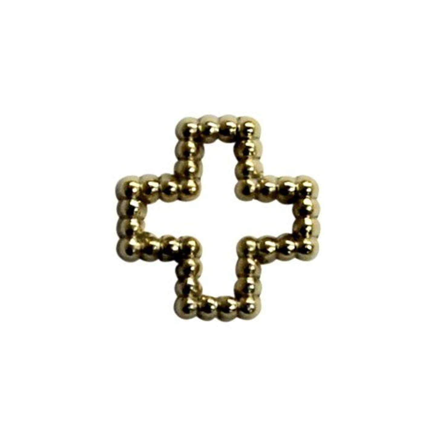 上げる復活するアソシエイトプリティーネイル ネイルアートパーツ ブリオンクロスM ゴールド 12個