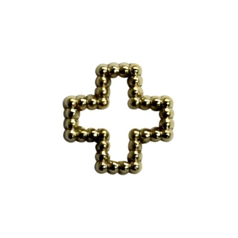 階葉巻位置づけるプリティーネイル ネイルアートパーツ ブリオンクロスM ゴールド 12個