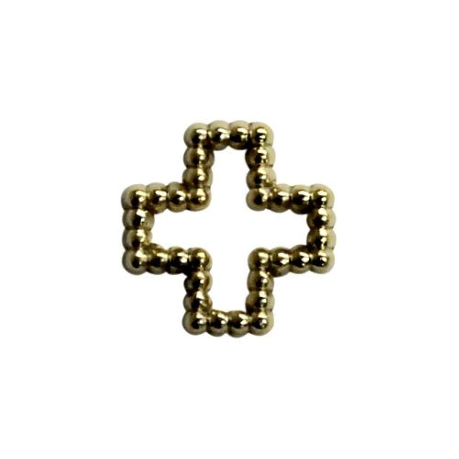緩やかな切り下げ接続詞プリティーネイル ネイルアートパーツ ブリオンクロスM ゴールド 12個