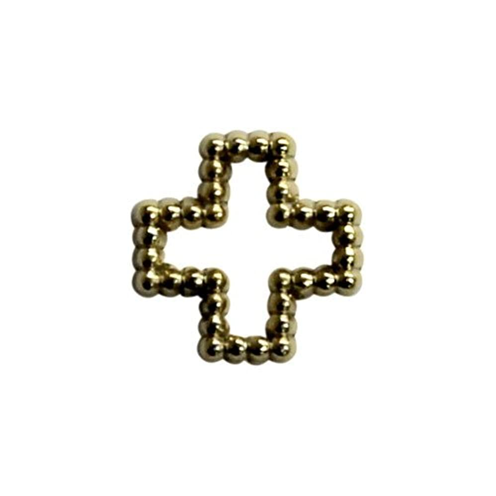 ピグマリオンオンスリチンモイプリティーネイル ネイルアートパーツ ブリオンクロスM ゴールド 12個