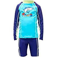 Happy Cherry Kids Rash Guard Sets Two Piece Long Sleeve Cartoon Swimwear