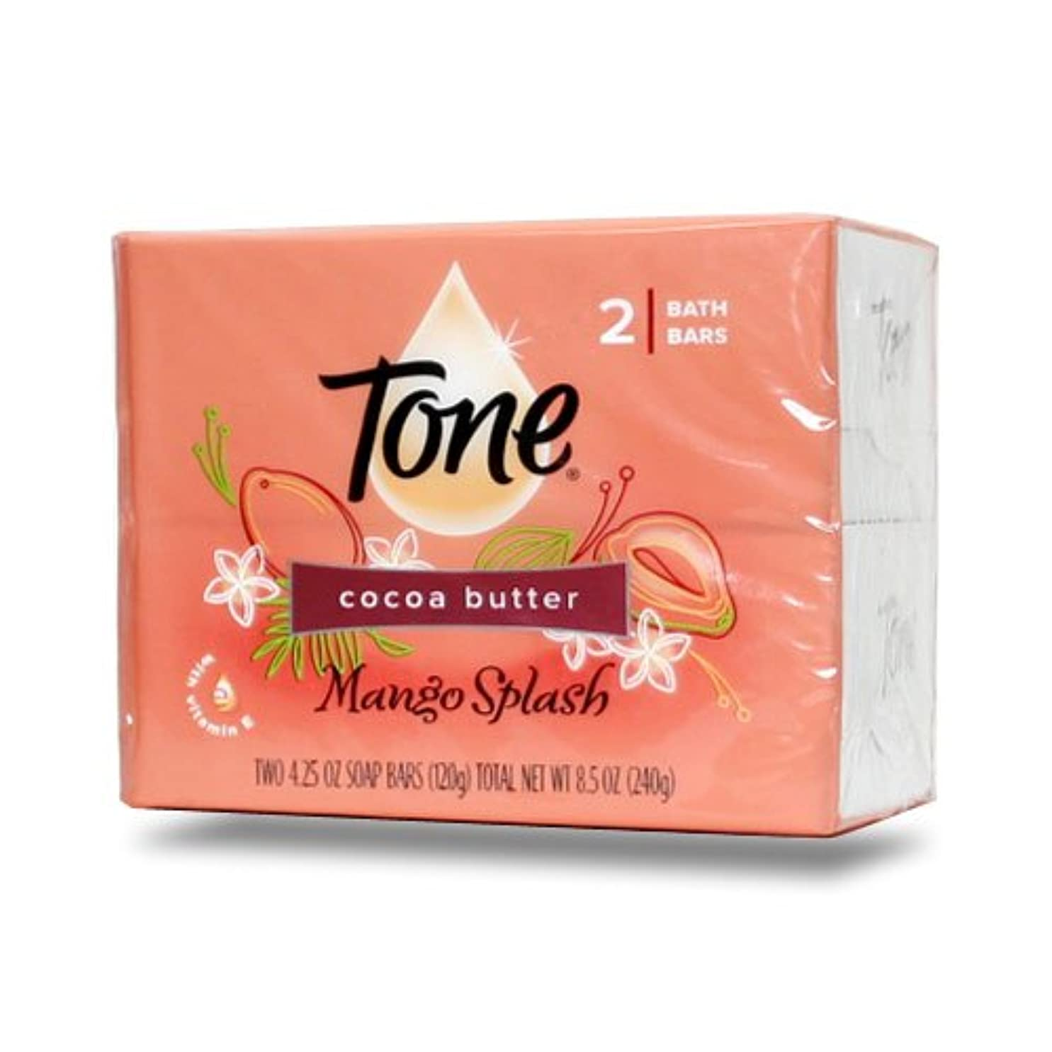 強化ほぼ過度の【Tone】トーン石鹸(マンゴスプラッシュ)120g×2個パック