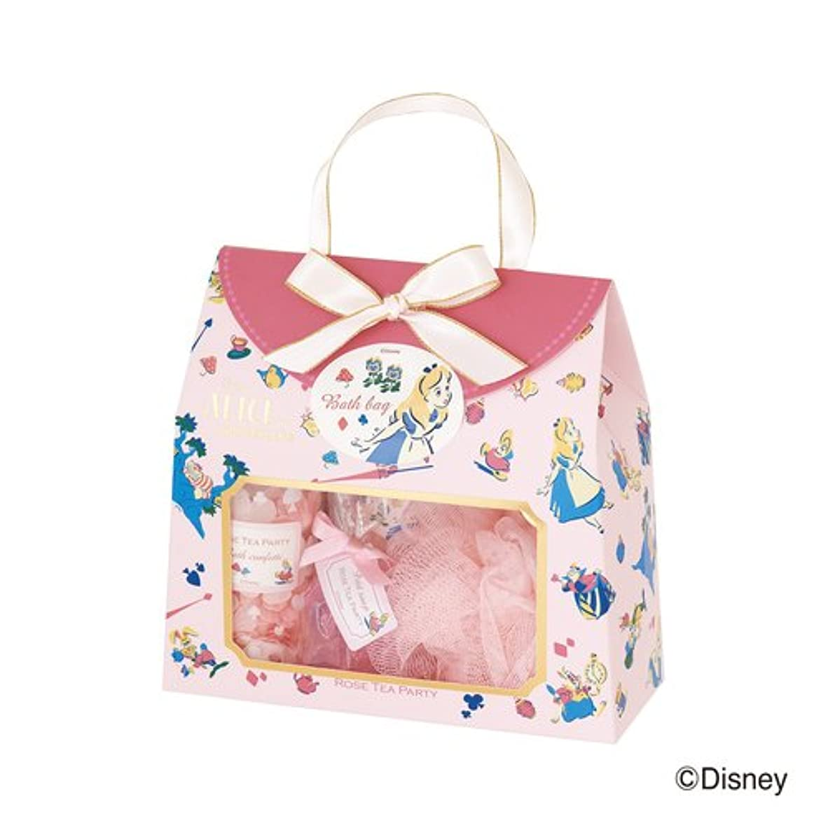 昇進魔術マトンディズニーフレグランスコレクション バスバッグト5点セット アリス ローズティーパーティー(爽やかでやさしいバラの香り)