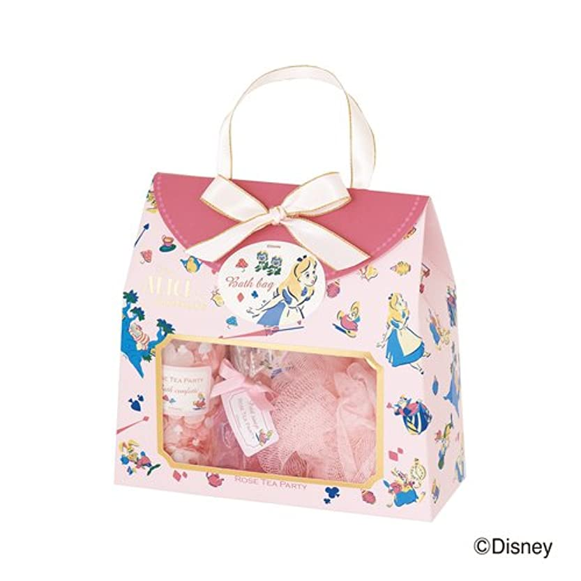 廊下確率大腿ディズニーフレグランスコレクション バスバッグト5点セット アリス ローズティーパーティー(爽やかでやさしいバラの香り)