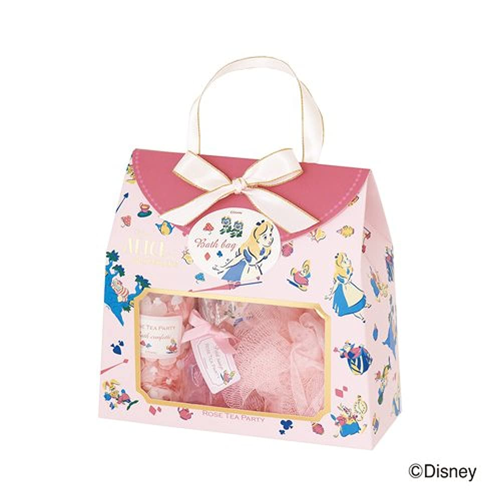 郵便番号リングビットディズニーフレグランスコレクション バスバッグト5点セット アリス ローズティーパーティー(爽やかでやさしいバラの香り)