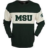 NCAA Michigan State Spartansユニセックスバーダウンセーター、フォレストグリーン、ミディアム