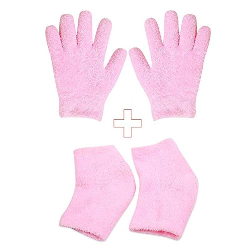 グラディス電信オンスかかとケア かかと靴下とハンドケア手袋 美容 保湿 足ケアパット うるおい効果 肌保湿 乾燥の肌に潤う効果 ハイドロ ジェル フリーサイズ 肌のカサカサ 痒み 防止 緩和