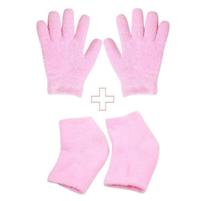 グリーンバックラバ大佐かかとケア かかと靴下とハンドケア手袋 美容 保湿 足ケアパット うるおい効果 肌保湿 乾燥の肌に潤う効果 ハイドロ ジェル フリーサイズ 肌のカサカサ 痒み 防止 緩和