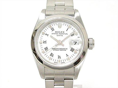 [ロレックス] ROLEX オイスターパーペチュアル デイト 腕時計 ウォッチ ホワイト ステンレススチール(SS) 79160 [中古]
