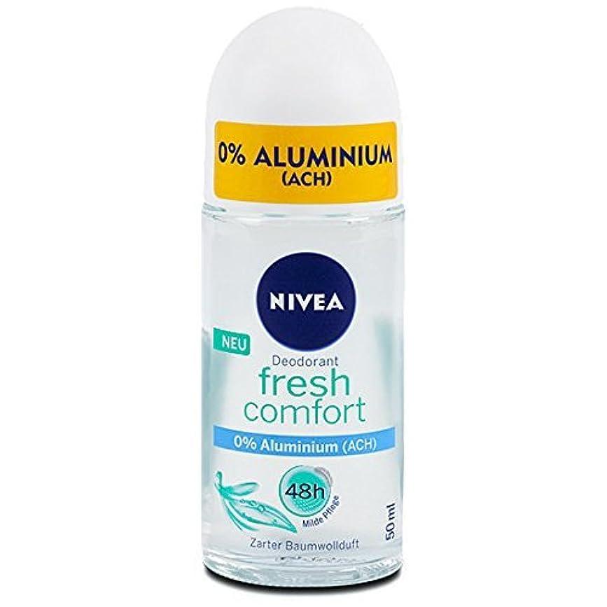 後退する動かないストレスの多いNivea Fresh Comfort Aluminum Free 48h Deodorant Roll-On 50 ml / 1.7 fl oz by Nivea