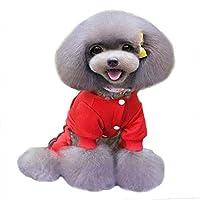 赤、M:セーターストライプフリース夢USAパーカーテディプードルビションの服かわいい犬服DAウォーキング ペット犬アウトドア