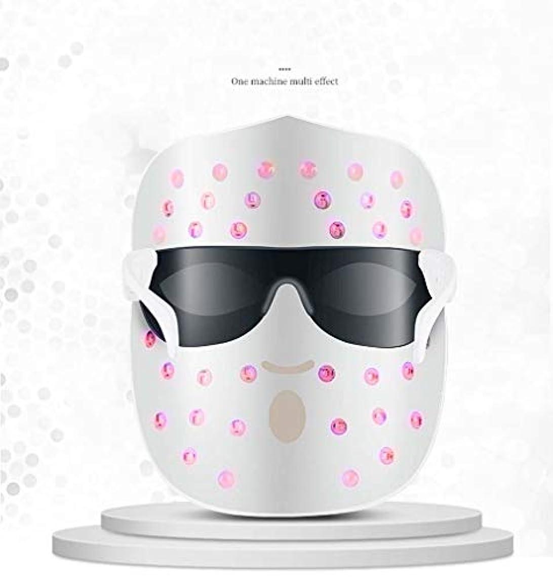 地域にもかかわらず穴レッド/ブルー/オレンジの個別ライト - ライトセラピーは顔のスキンケアのためのにきび治療無制限セッションをマスク