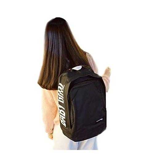 [RSWHYY] メンズ レディース リュックサック 男女兼用 デイパック 鞄 かばん パック リュック 字母 無地 スクエア 原宿系 韓国風 カジュアル シンプル 大容量 ファッション 通勤 通学 旅行 ブラック