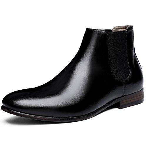 (フォクスセンス) Foxsense ブーツ ビジネスシューズ チェルシーブーツ サイドゴア ブーツ メンズ 革靴 本革 26.5cm ブラック 6715