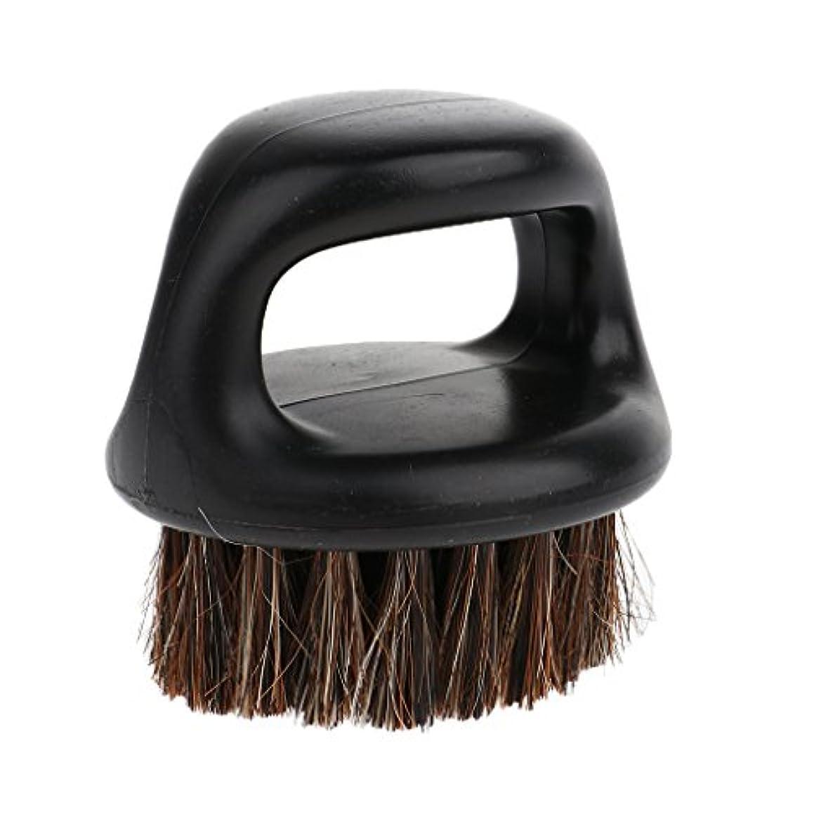 急襲煙酔ってひげ剃り用ブラシ ヘアブラシ ハンドル付き 丸いブラシ ポータブル 男性