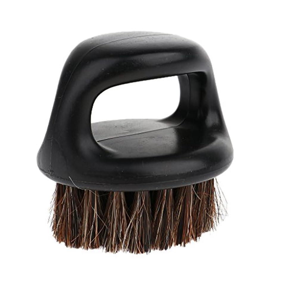 バリケード防ぐほこりBaoblaze ひげ剃り用ブラシ ヘアブラシ ハンドル付き 丸いブラシ ポータブル 男性
