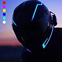 homewineasy イルミネーション ヘルメット LEDライト 防水 3M 両面 粘着性 テープ オートバイ運転者用 信号灯 点滅灯バー 夜オートバイ 安全のため 汎用 (ブルー)