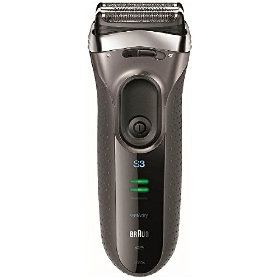 前提正しいコストブラウン メンズシェーバー シリーズ3 3080s-S-P 3枚刃 お風呂剃り可 シルバー