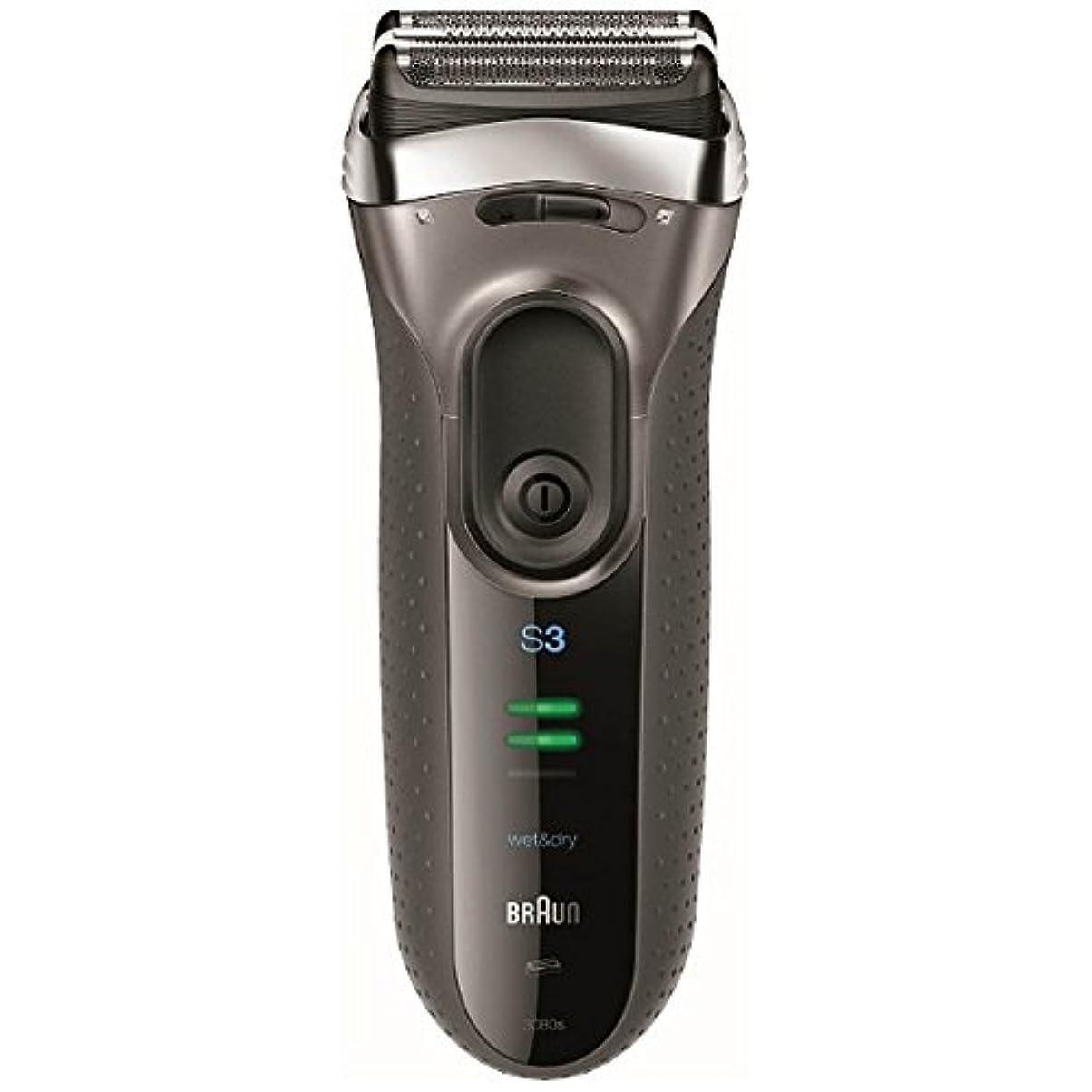 受付なんでも排除ブラウン メンズシェーバー シリーズ3 3080s-S-P 3枚刃 お風呂剃り可 シルバー