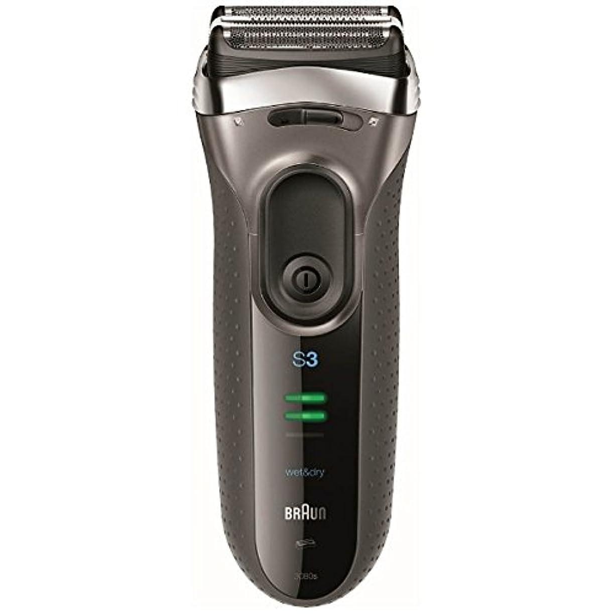 明示的にカプラー小道ブラウン メンズシェーバー シリーズ3 3080s-S-P 3枚刃 お風呂剃り可 シルバー