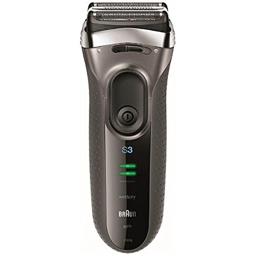 つまずく擬人ドライバブラウン メンズシェーバー シリーズ3 3080s-S-P 3枚刃 お風呂剃り可 シルバー