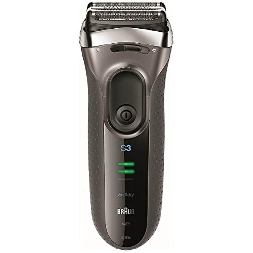 起こる報奨金認可ブラウン メンズシェーバー シリーズ3 3080s-S-P 3枚刃 お風呂剃り可 シルバー