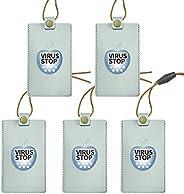 【4500円OFF!7950円→3450円!6/1 23時まで5名様限定!】PUレザータイプ 空間除菌カード 二酸化塩素配合 首掛けタイプ ネックストラップ付属ウィルスブロッカー ウイルス対策ウイルスをシャットアウト 有