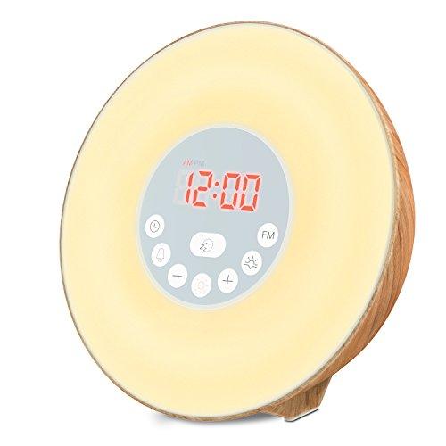 BESTOPE 目覚まし時計 led時計 デジタル 光+音 ...