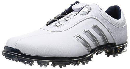 [アディダスゴルフ] Adidas Golf pure metal Boa Q46617 Q46617 (ホワイト/シルバーメタリック/カレジエイトネイビー/J 255)