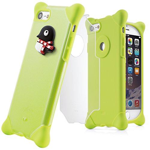 77c701e4a9 BoneCollection iPhone7 iPhone8 スマホ ケース まるペンギン 携帯ケース 【ストラップ 付き シリコン 素材 2層