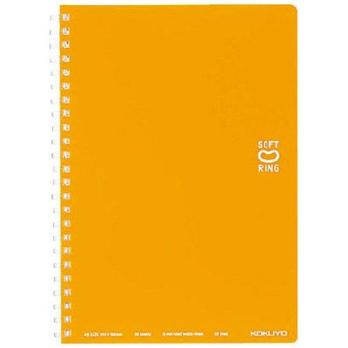 コクヨ ソフトリングノート(ドット入り罫線) A5 オレンジ