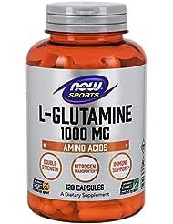 [海外直送品] ナウフーズ  - Lグルタミンの二重強さ 1000 mg。120カプセル