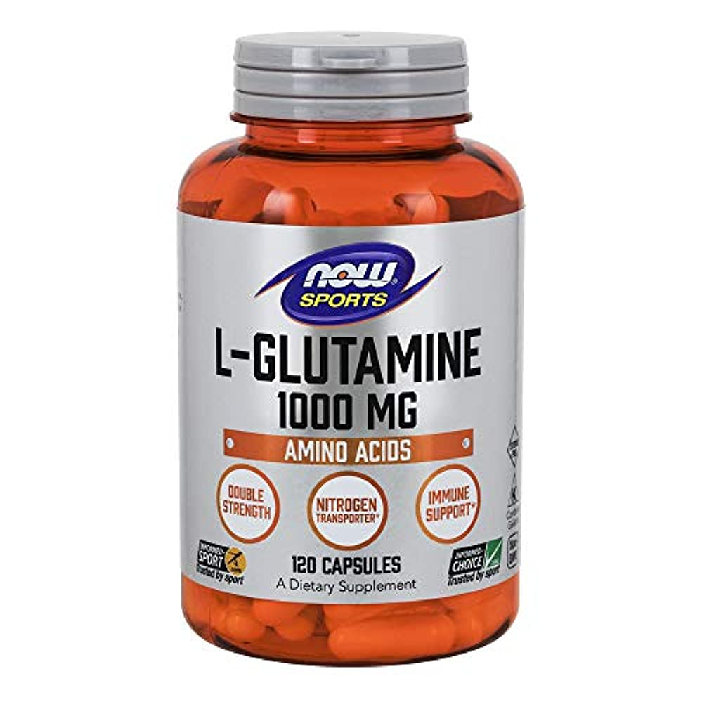 切断する類推お願いします[海外直送品] ナウフーズ  - Lグルタミンの二重強さ 1000 mg。120カプセル