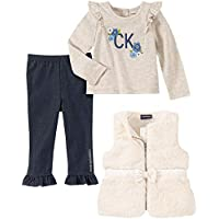 Calvin Klein Baby Girls 3 Pieces Vest Pants Set