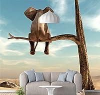 Chunxd カスタム写真壁紙用壁3D漫画パターン森壁画象壁紙用リビングルーム子供ルーム家の装飾-280X200Cm
