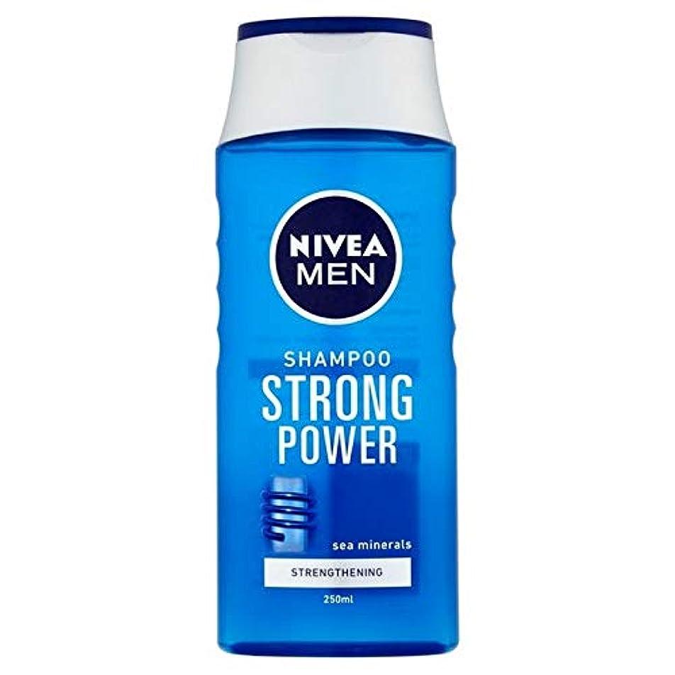 主援助感覚[Nivea ] ニベアの男性は、強いパワー250ミリリットルシャンプー - Nivea Men Shampoo Strong Power 250ml [並行輸入品]