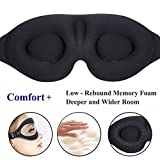 Sleep Mask for Women Men Sleeping, 3D Contoured Cup Blindfold Concave Molded Night Eye Mask Block Out Light, Soft Comfort Adjustable Eye Shade Create Total Darkness for Travel, Naps, Yoga, Meditation