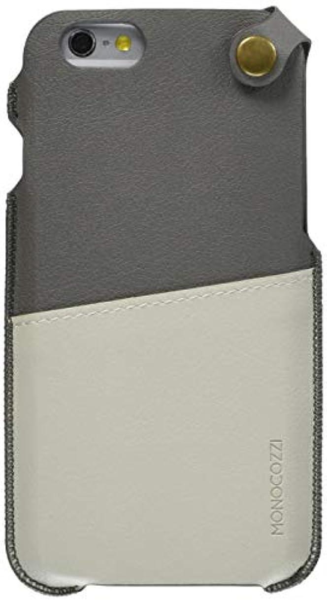 それから並外れてすべきMONOCOZZI 【iPhone 6 / 6s (4.7インチ)対応ソフトレザーポーチ】 Soft Leather Pouch グレー/クリーム mono-posh-p-ip6-47-cream
