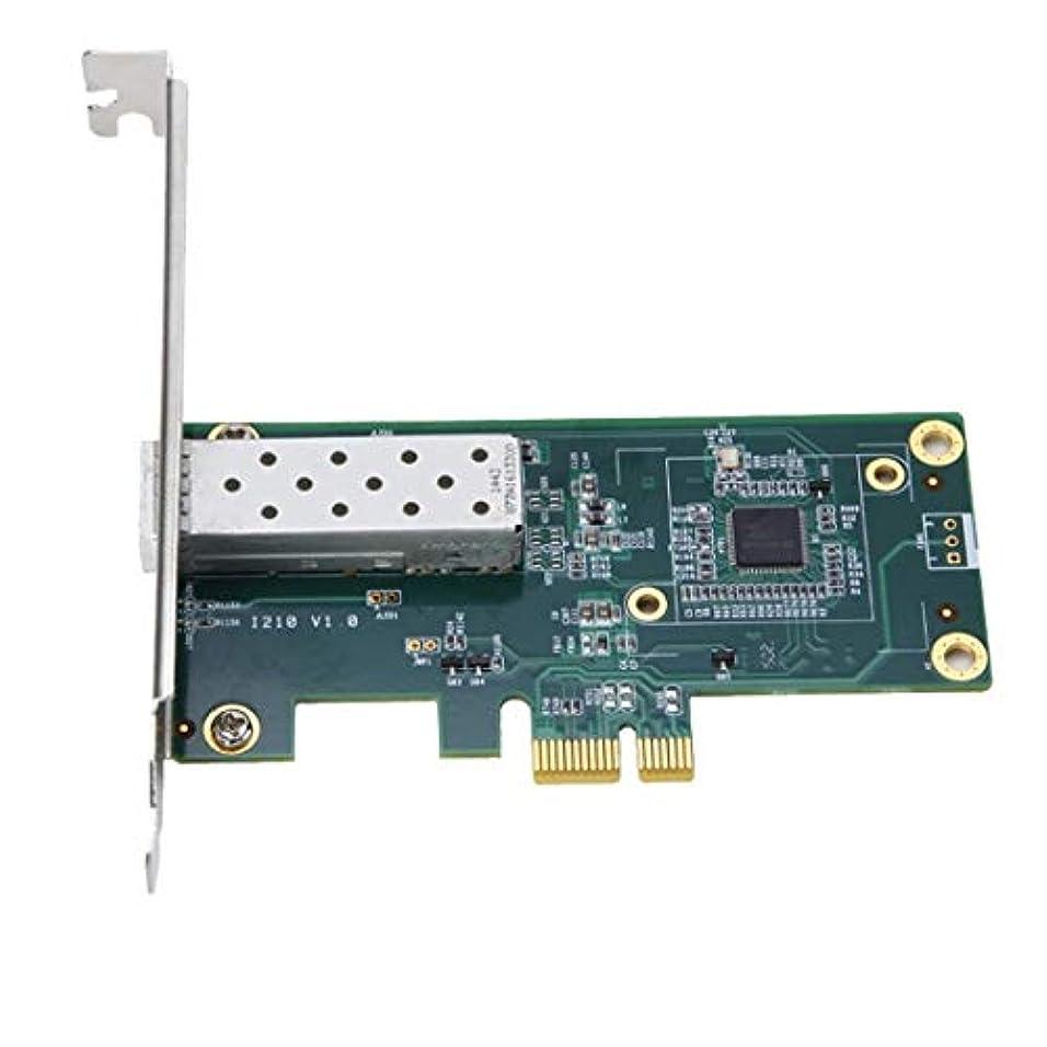 匿名束甘味HDJ 林TXA026インテルI210のPCIeギガビット1000MシングルSFPファイバーネットワークカードアダプター