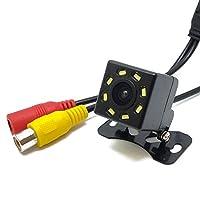 LED灯搭載小型バックカメラ 広角170度 暗視仕様 IP67防水 ガイドライン表示 12V専用 高品質CMOSレンズ FMTBK810
