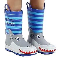 子供男の子女の子サメレインコート/レインブーツかわいいサメ3D形状 Shark 26#