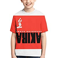 人気新品Akira アキラ 青少年Tシャツ 限定原宿系Tee トップス Chic 中学生 機能運動服 男の子と女の子 半袖の丸首上着 同人周辺 3Dカスタム両面カラー印刷 卒業式 プレゼント L