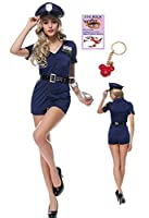 警官 婦警 ポリス コスプレ 衣装 ハロウィン ブルー コップ 制服 レディース コスチューム