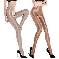 2 Pairs Shaping Socks Oil Socks Shiny Silk Stockings Pantyhose Dance Tights